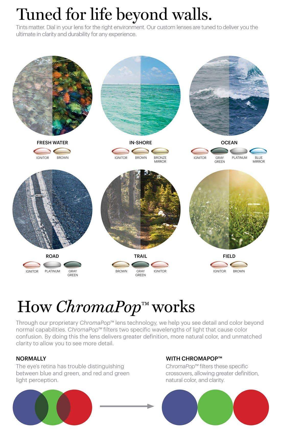 'Audible - ChromaPop' 60mm Polarized Aviator Sunglasses,                             Alternate thumbnail 4, color,