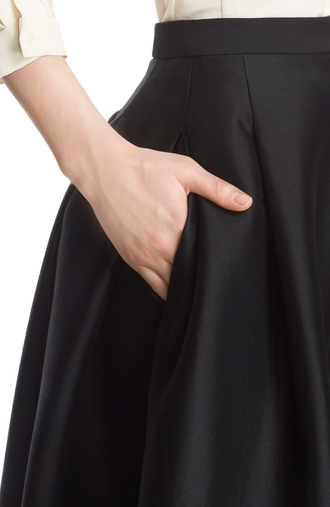 Full Length Evening Skirt,                             Alternate thumbnail 6, color,                             Black