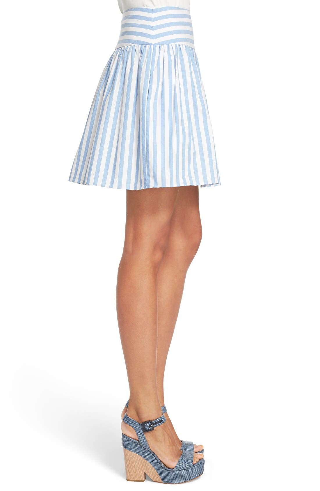 Alternate Image 4  - Milly Breton Stripe A-Line Skirt