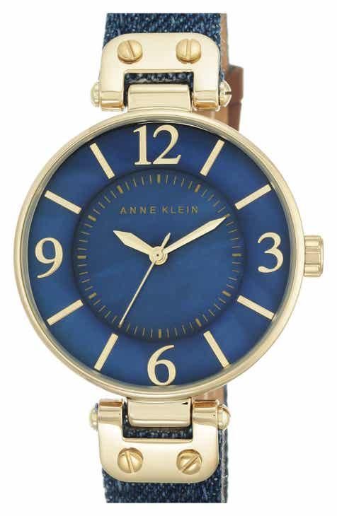 Anne Klein Denim Strap Watch 054ed852c0