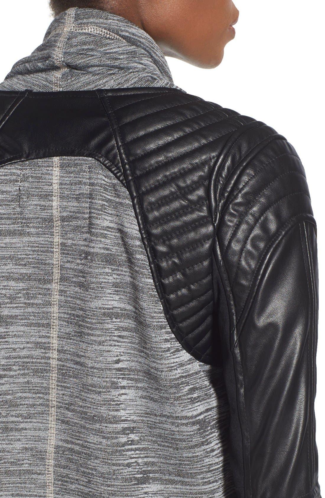 Alternate Image 4  - BLANKNYC 'Dating & Waiting' Drape Front Jacket