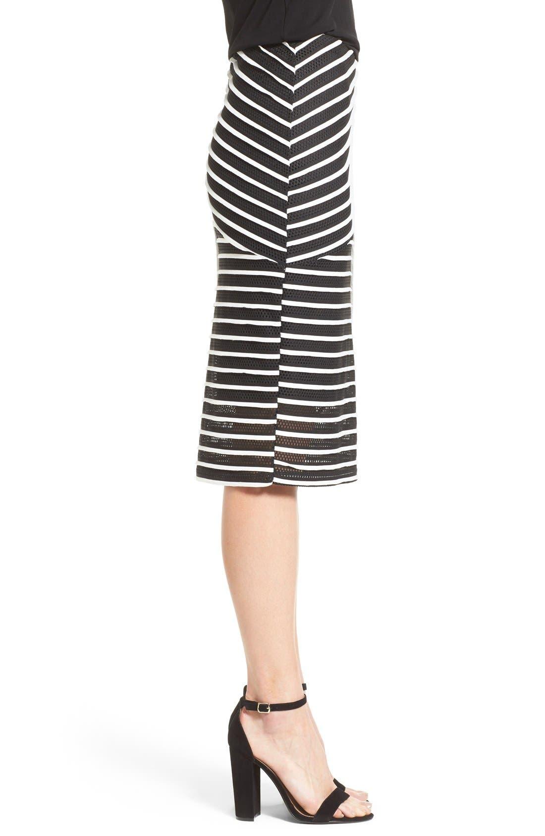 Alternate Image 3  - Bobeau Stripe Mesh Tube Skirt
