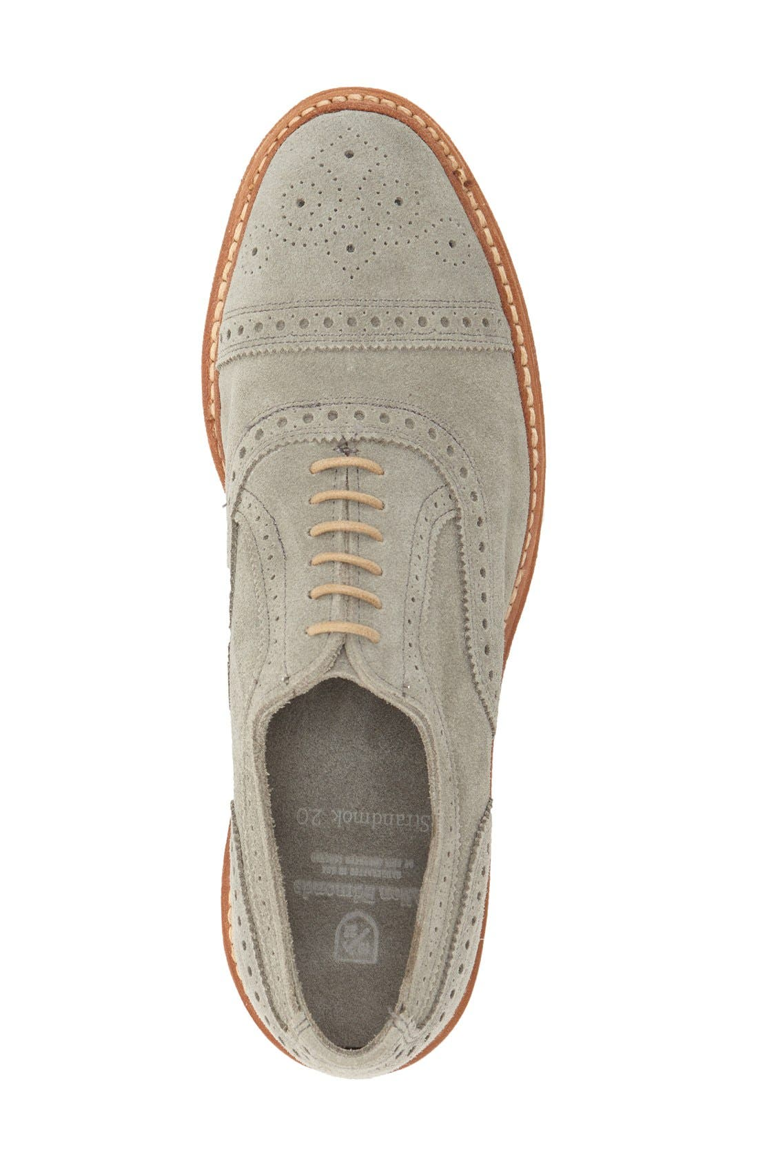'Strandmok' Cap Toe Oxford,                             Alternate thumbnail 3, color,                             Grey Suede