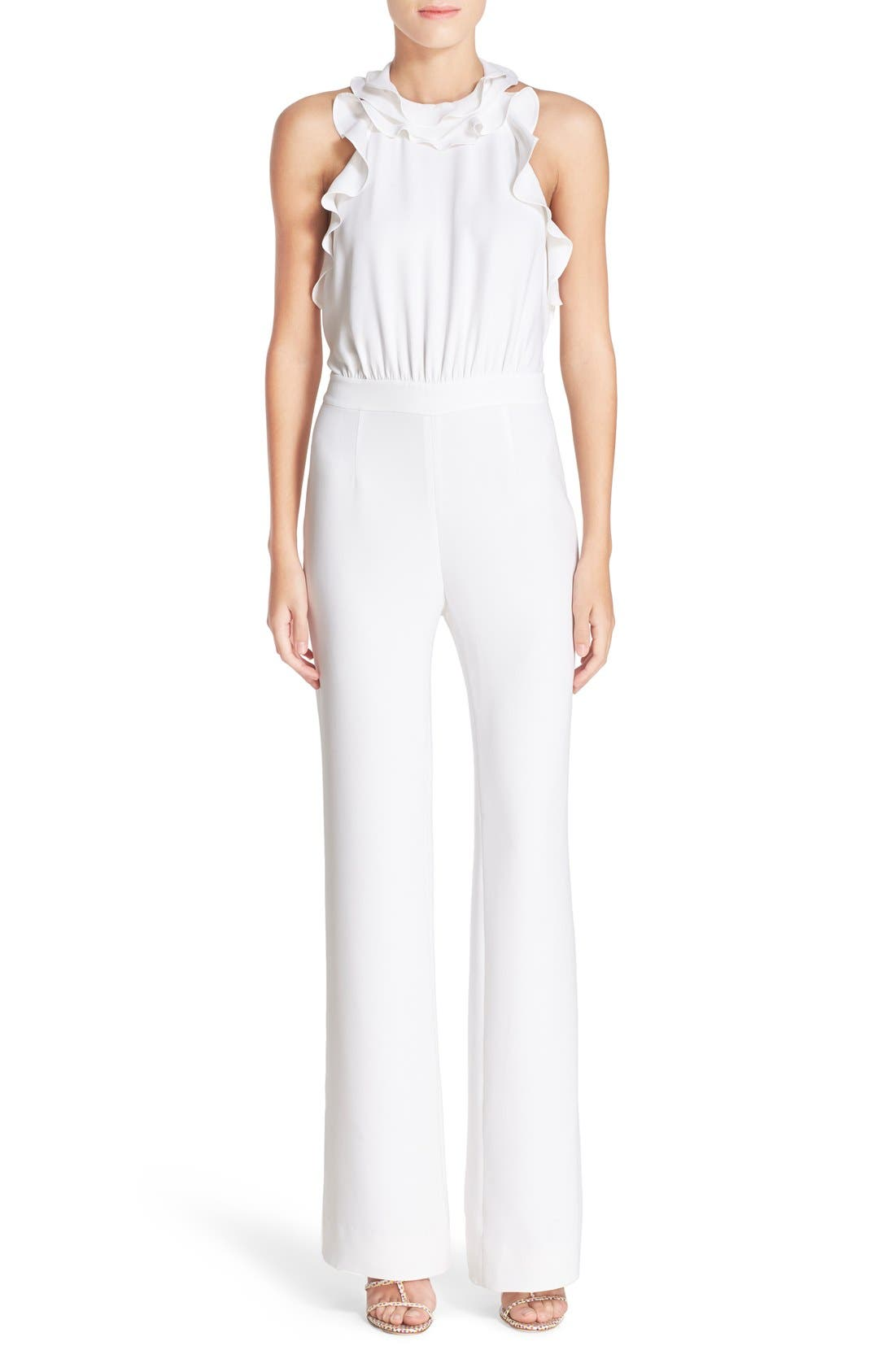 Alternate Image 1 Selected - Diane von Furstenberg 'Blithe' Silk Jumpsuit
