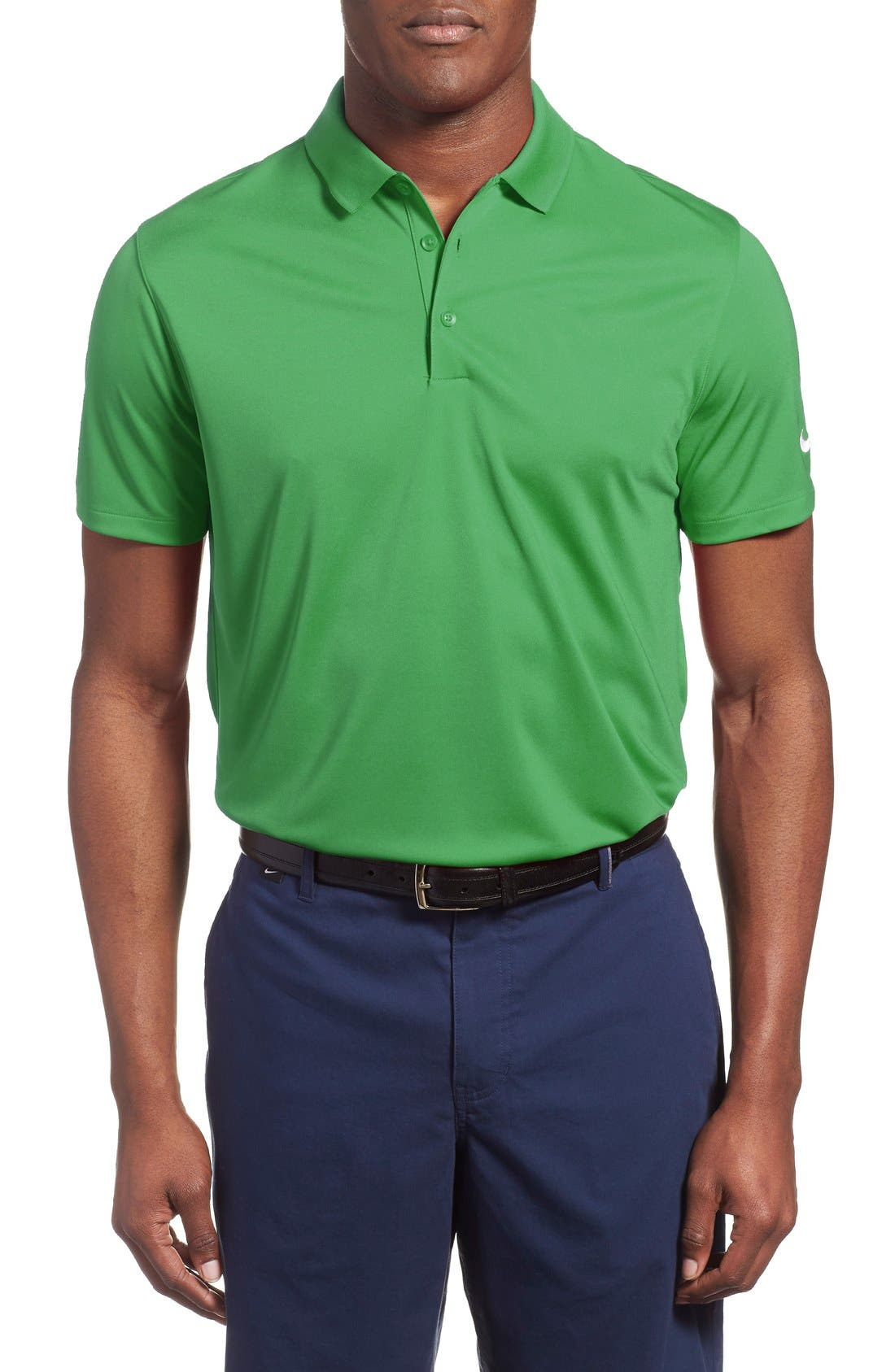 'Victory Dri-FIT Golf Polo,                             Main thumbnail 1, color,                             Classic Green/White