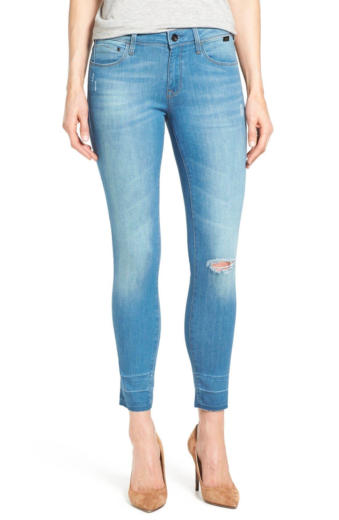 Alternate Image 1 Selected - Mavi Jeans Gold 'Alexa' Stretch Ankle Skinny Jeans