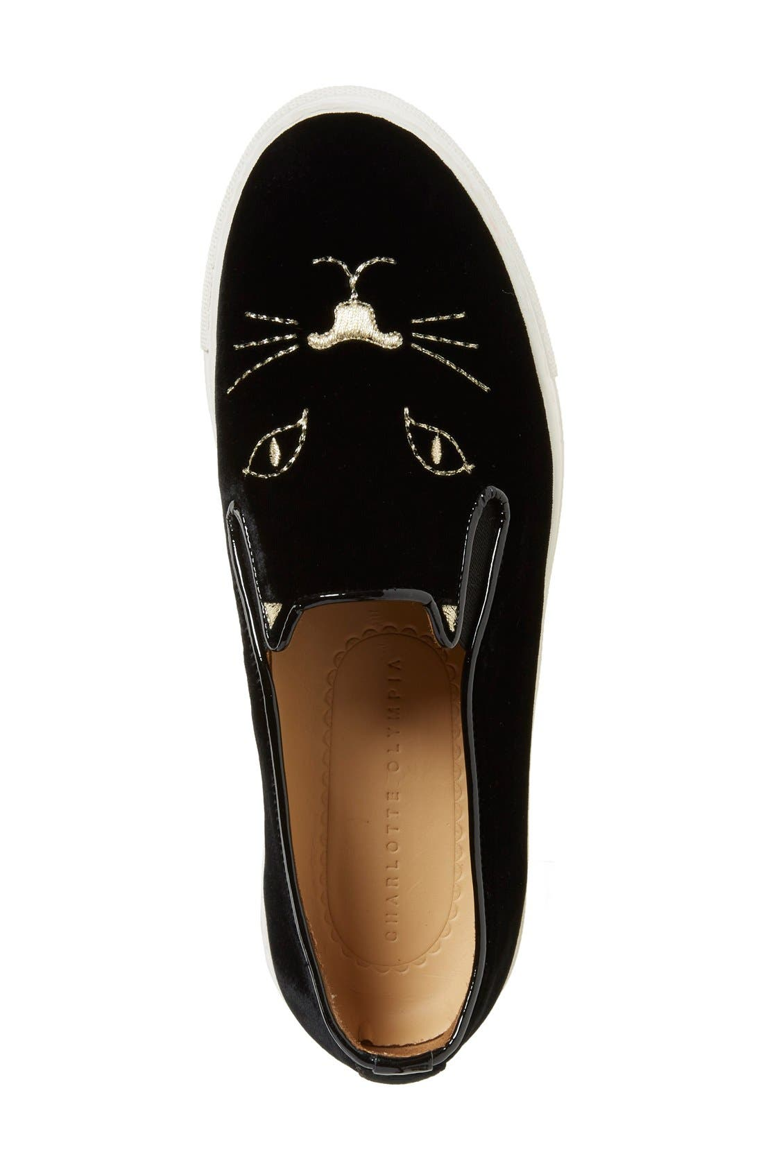 Alternate Image 3  - Charlotte Olympia Cool Cats Slip-On Sneaker (Women)