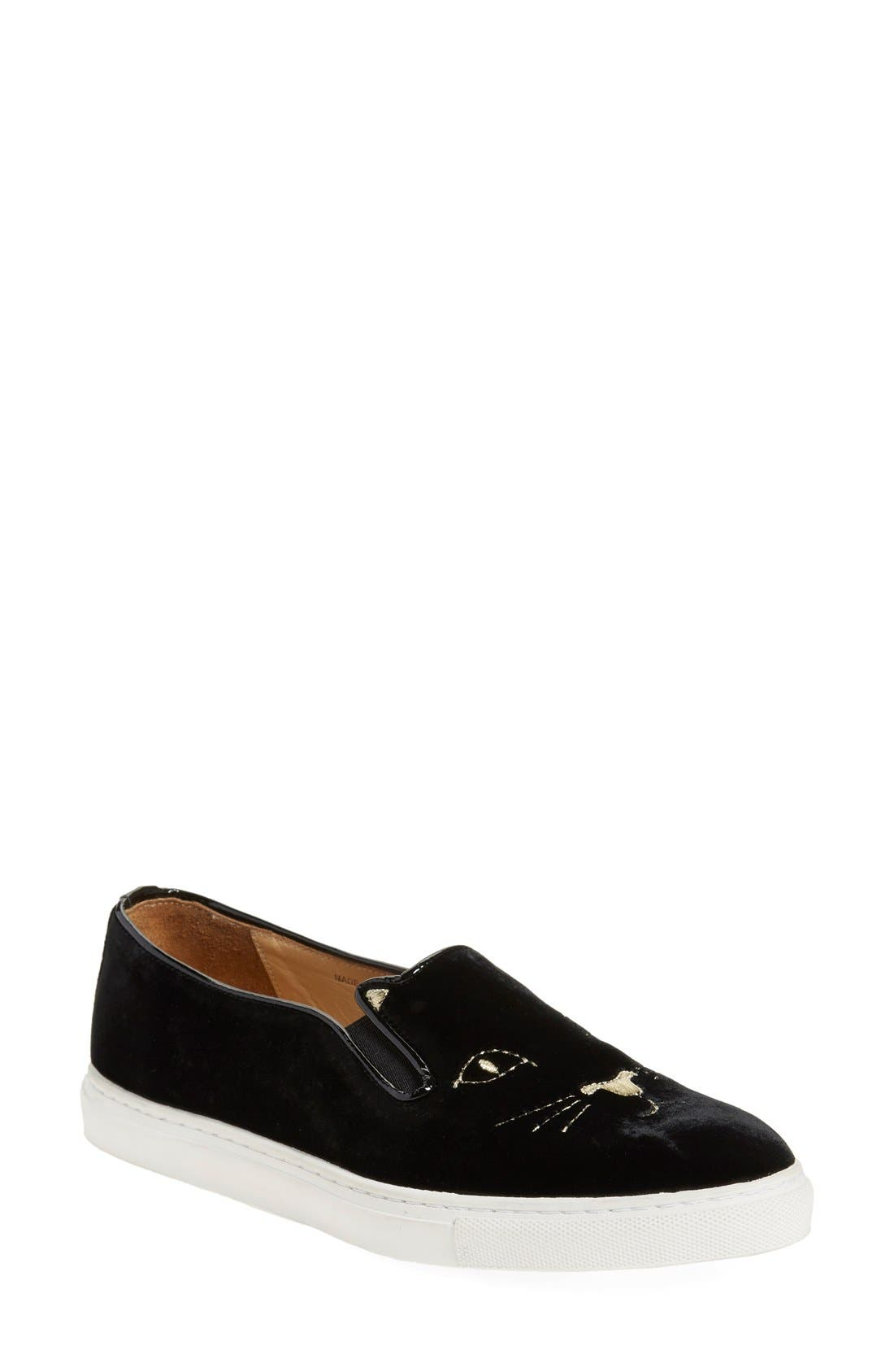 Alternate Image 1 Selected - Charlotte Olympia Cool Cats Slip-On Sneaker (Women)