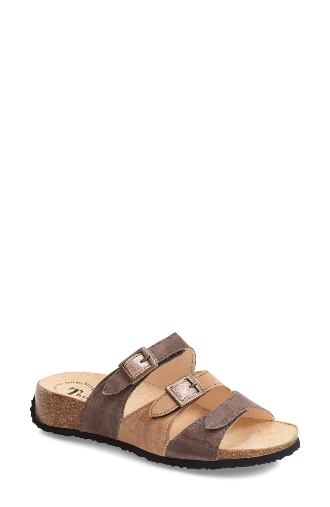 'Mizzi' Sandal,                             Main thumbnail 1, color,                             Cappucino Leather