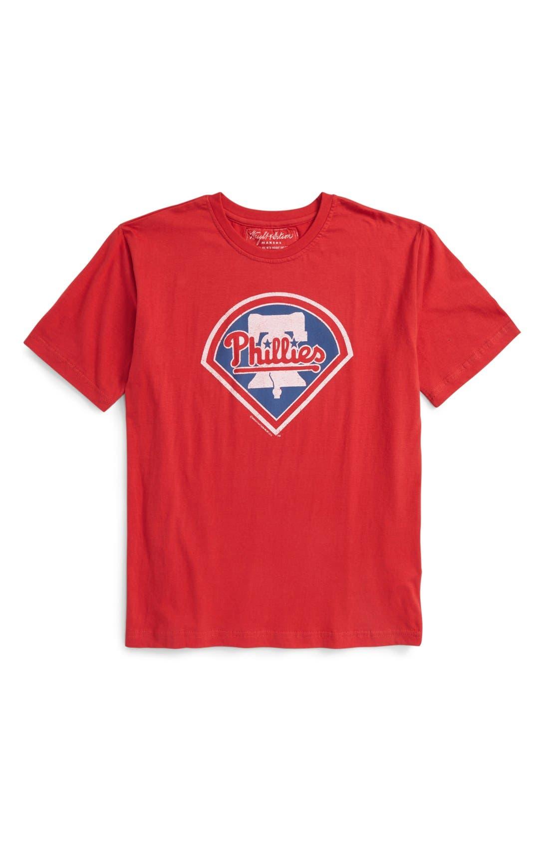 'Philadelphia Phillies' T-Shirt,                             Main thumbnail 1, color,                             Red