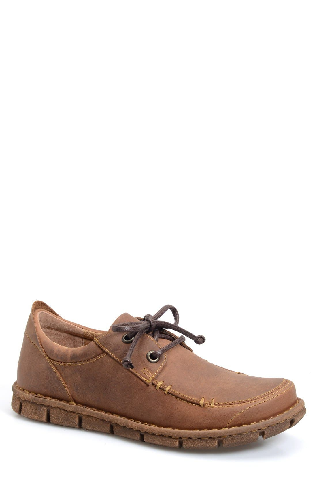 'Joel' Moc Toe Derby,                         Main,                         color, Light Brown Suede