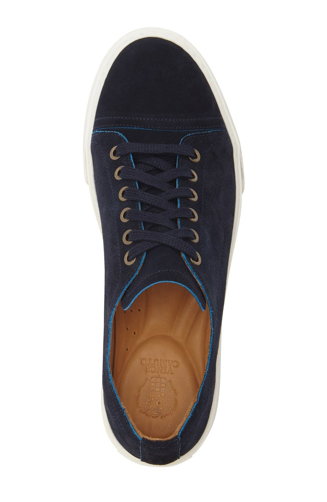 'Quort' Sneaker,                             Alternate thumbnail 3, color,                             Navy Suede