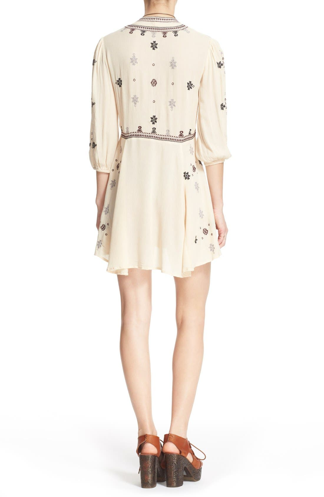 Alternate Image 2  - Free People 'Star Gazer' Embroidered Tunic Dress