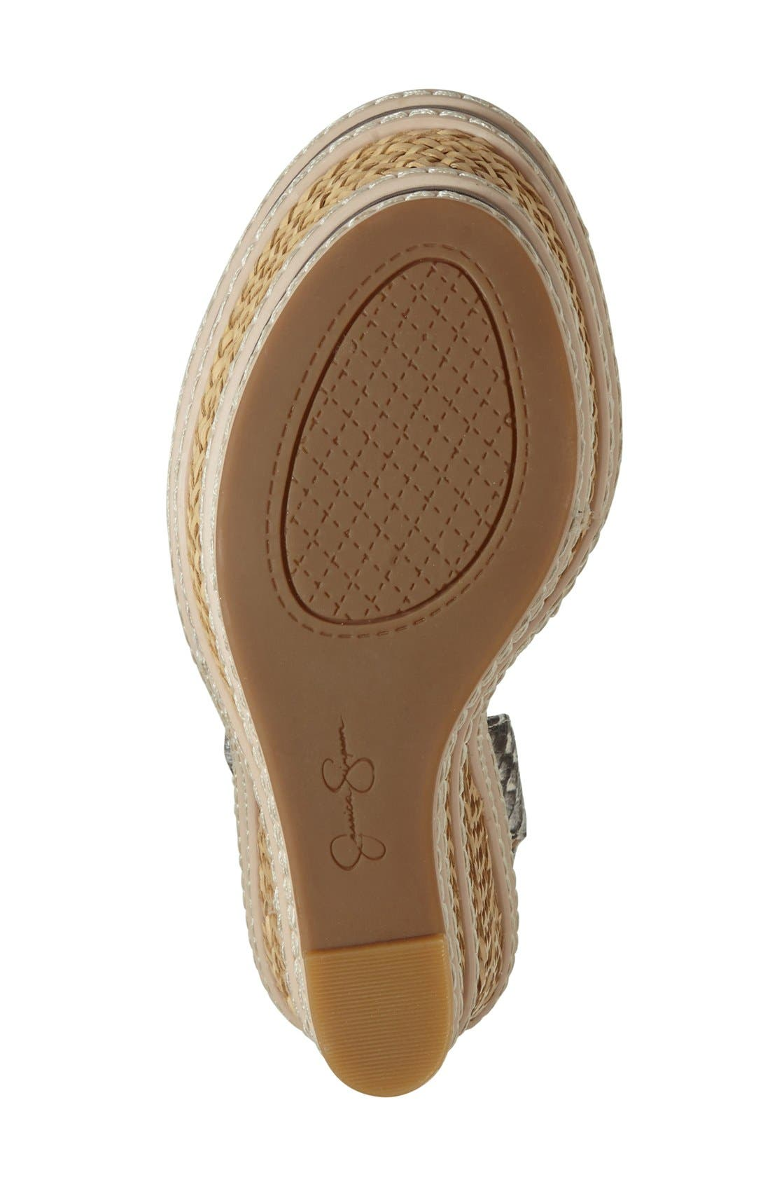 Alternate Image 4  - Jessica Simpson 'Ayala' Wedge Sandal (Women)