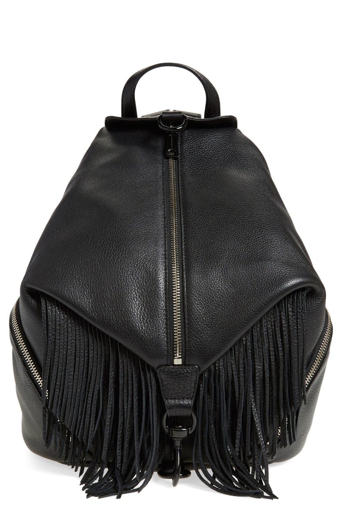 'Fringe Julian' Backpack,                         Main,                         color, Black