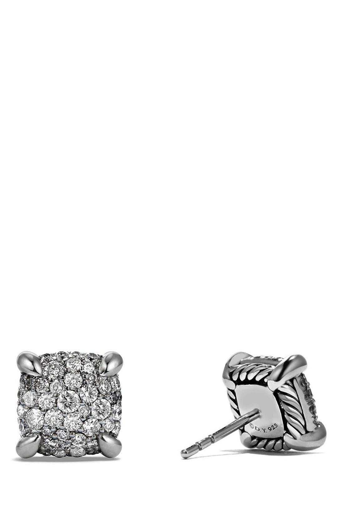 'Châtelaine' Earrings with Diamonds,                             Alternate thumbnail 2, color,                             Silver