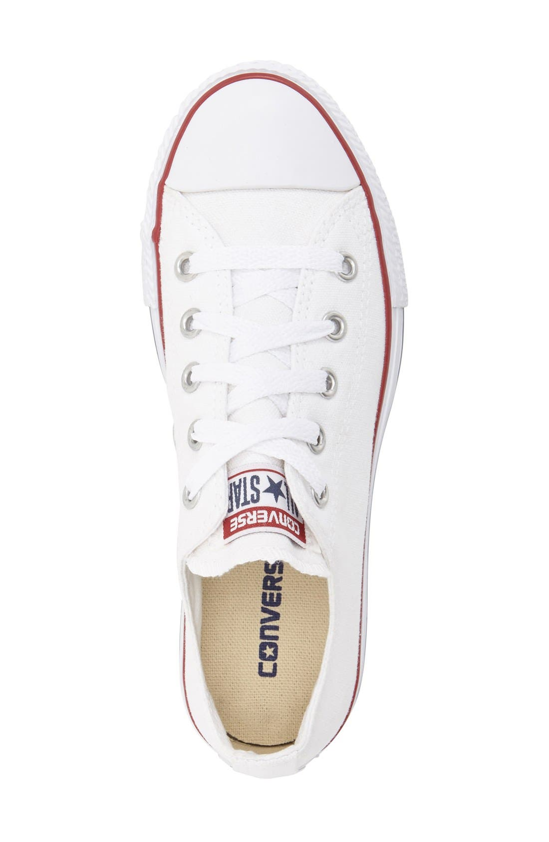 Chuck Taylor<sup>®</sup> Sneaker,                             Alternate thumbnail 3, color,                             White