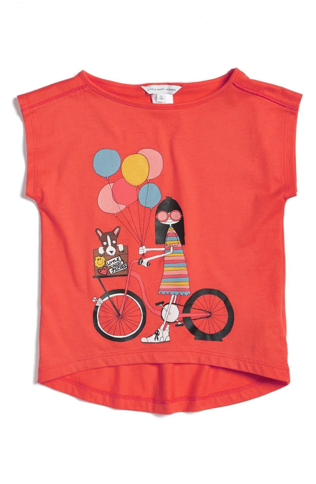 LITTLE MARC JACOBS 'Little Miss Marc' Graphic Tee (Toddler Girls, Little Girls & Big Girls)