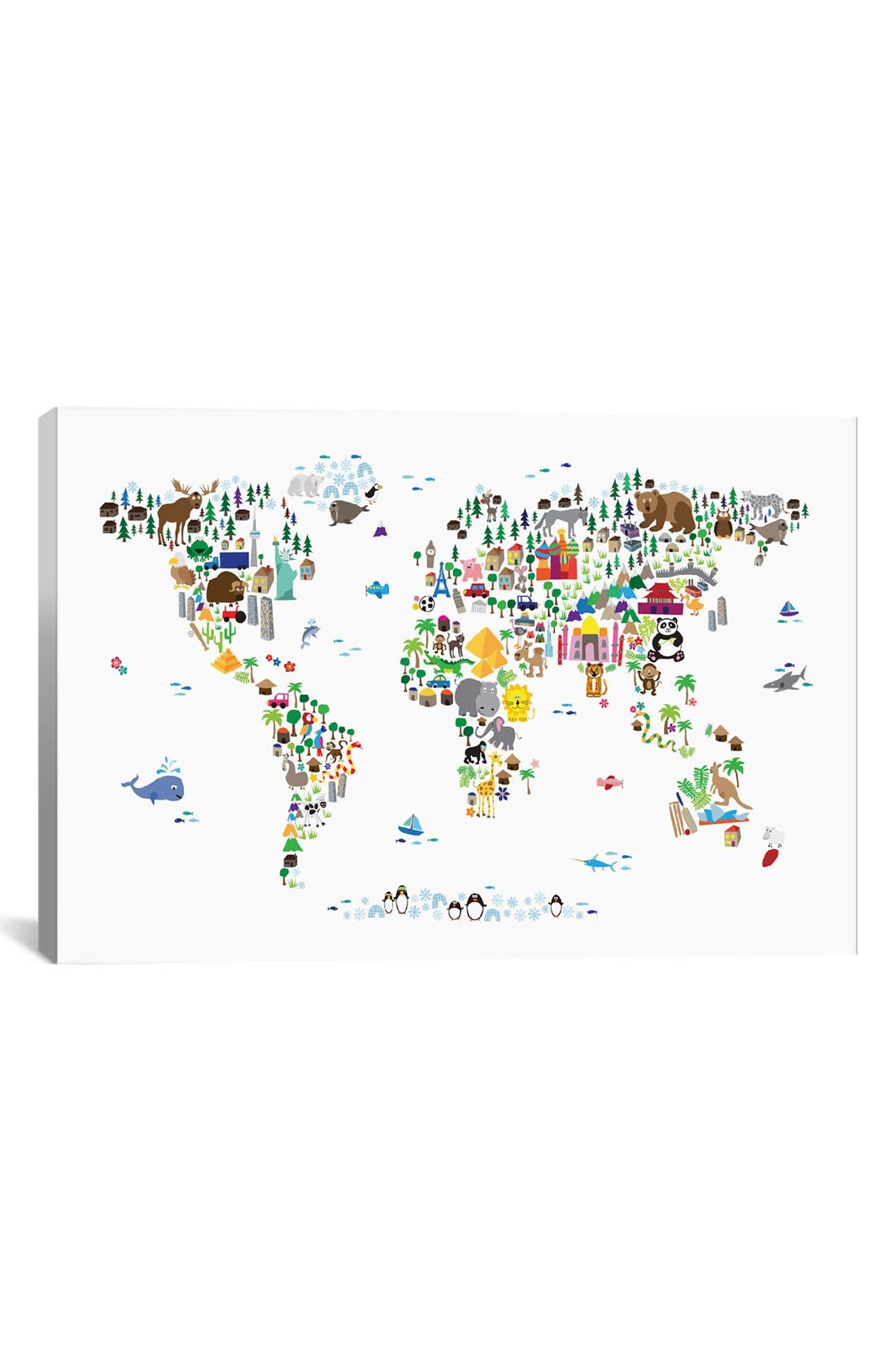 iCanvas 'Animal Map' Giclée Print Canvas Art