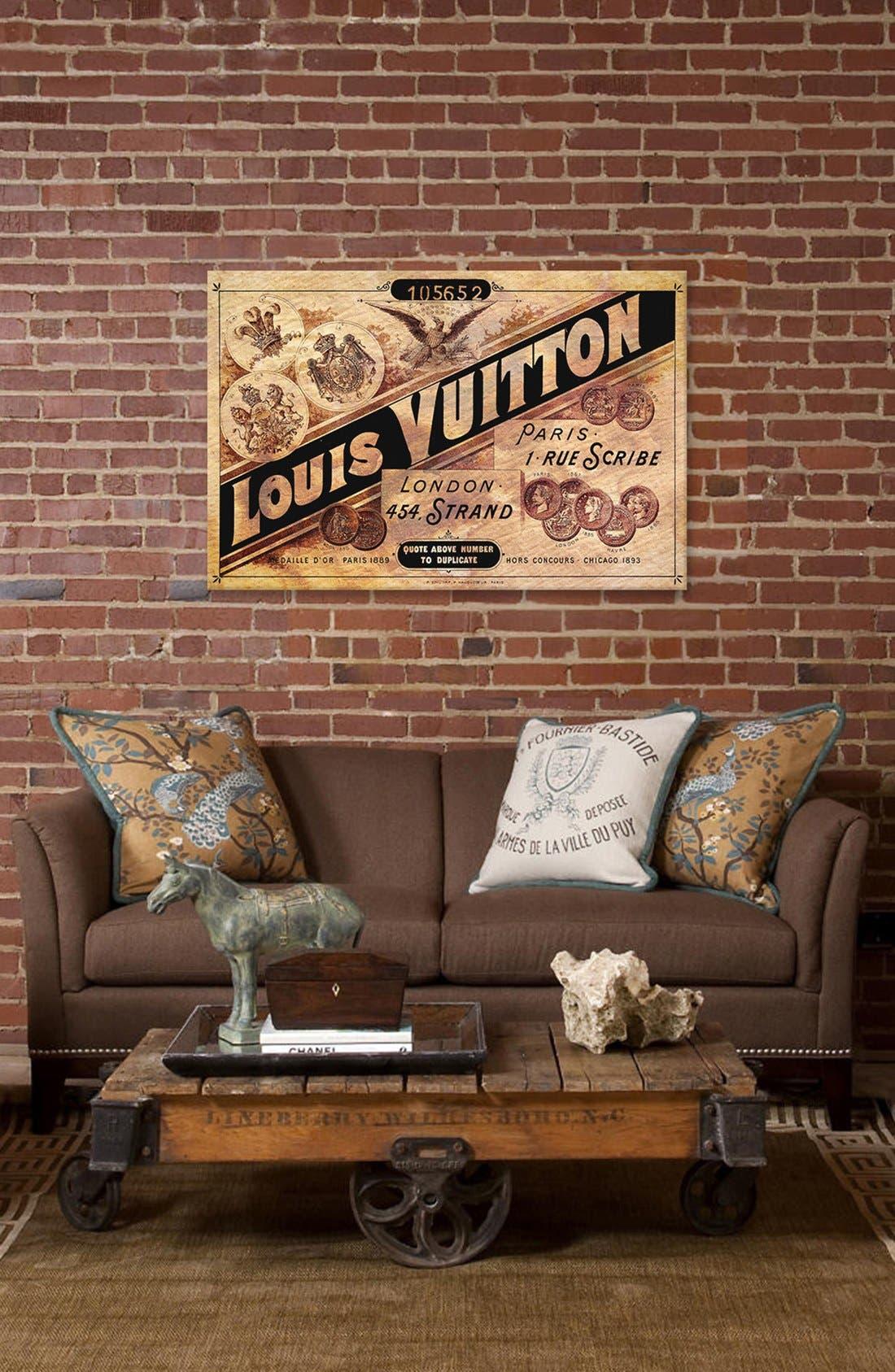 'Vintage Louis Vuitton Advertisement' Giclée Print Canvas Art,                             Alternate thumbnail 2, color,                             Brown