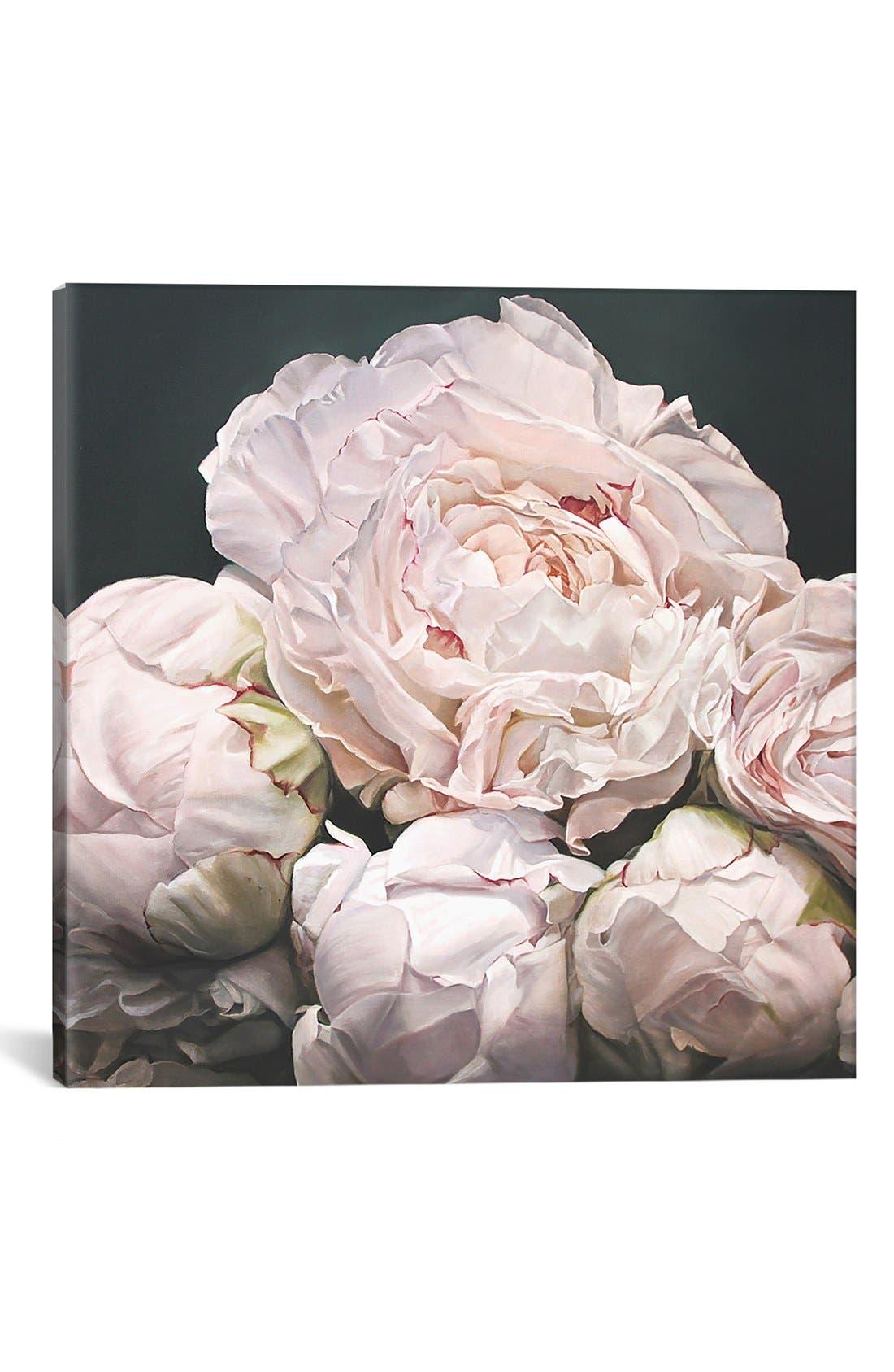 Alternate Image 1 Selected - iCanvas 'Peonies' Giclée Print Canvas Art
