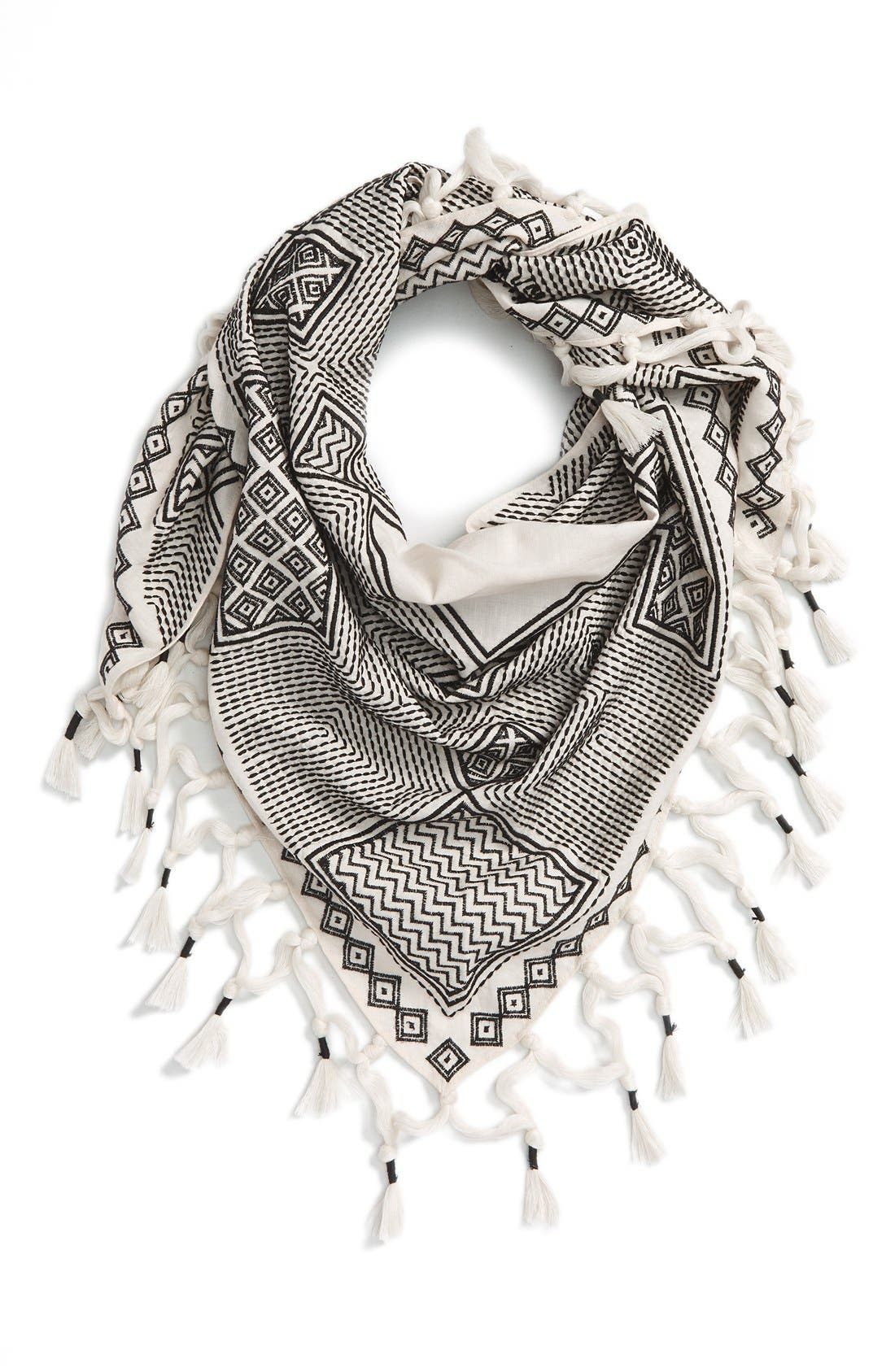 Main Image - Tory Burch 'Pottery' Embroidered Scarf