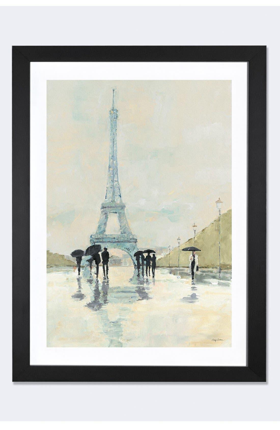 'April in Paris' Framed Fine Art Print,                         Main,                         color, Black