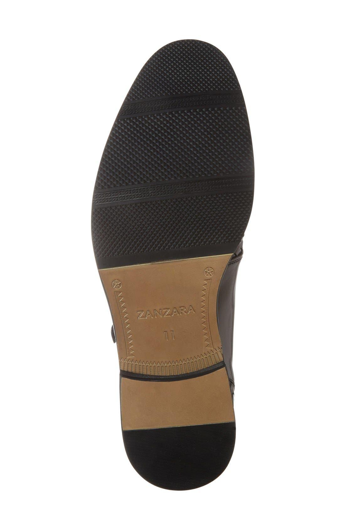 'Mahler' Monk Strap Shoe,                             Alternate thumbnail 4, color,                             Black Leather