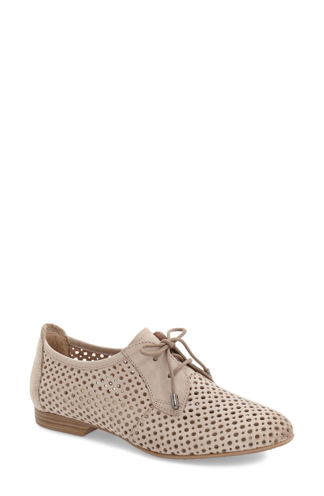 'Drene' Perforated Oxford,                             Main thumbnail 1, color,                             Pepper Suede