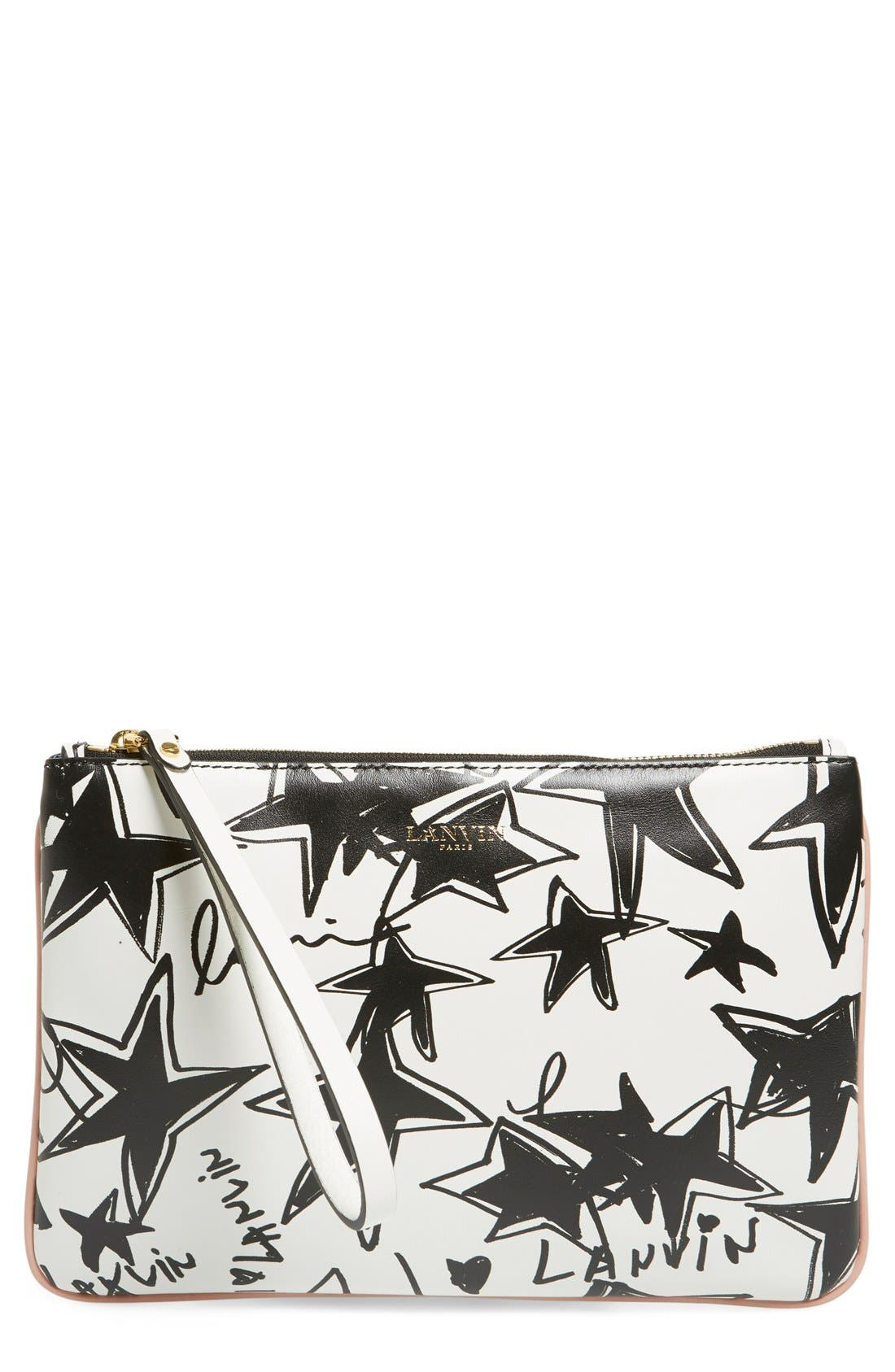 Alternate Image 1 Selected - Lanvin 'Small' Print Calfskin Clutch