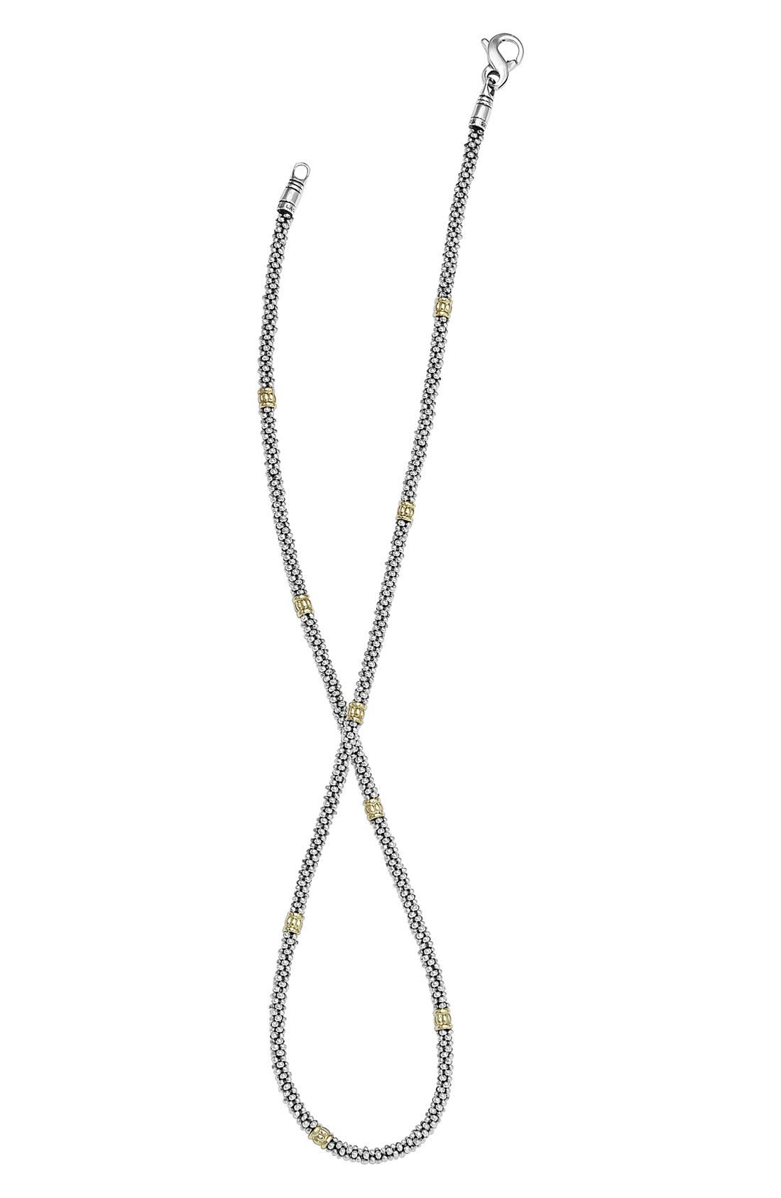 Caviar Rope Necklace,                             Alternate thumbnail 3, color,                             Silver/Gold