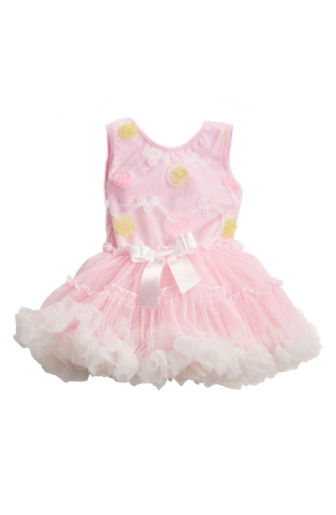 Main Image - Popatu Floral Pettidress (Baby Girls)