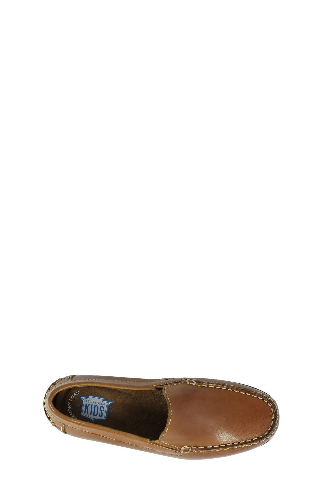 'Jasper - Venetian Jr.' Loafer,                             Alternate thumbnail 3, color,                             Saddle Tan Leather