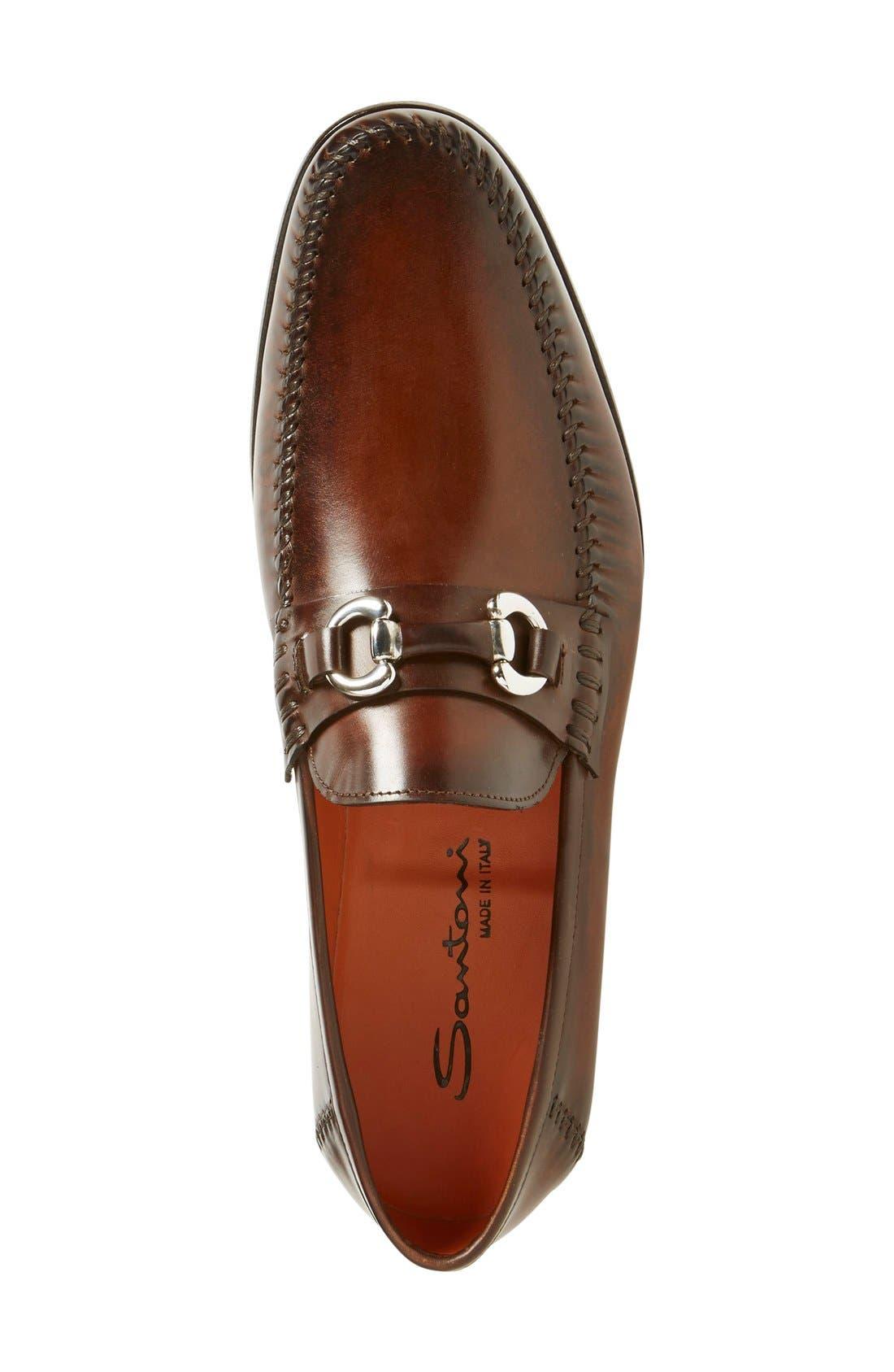 'Egan' Bit Loafer,                             Alternate thumbnail 3, color,                             Brown Leather