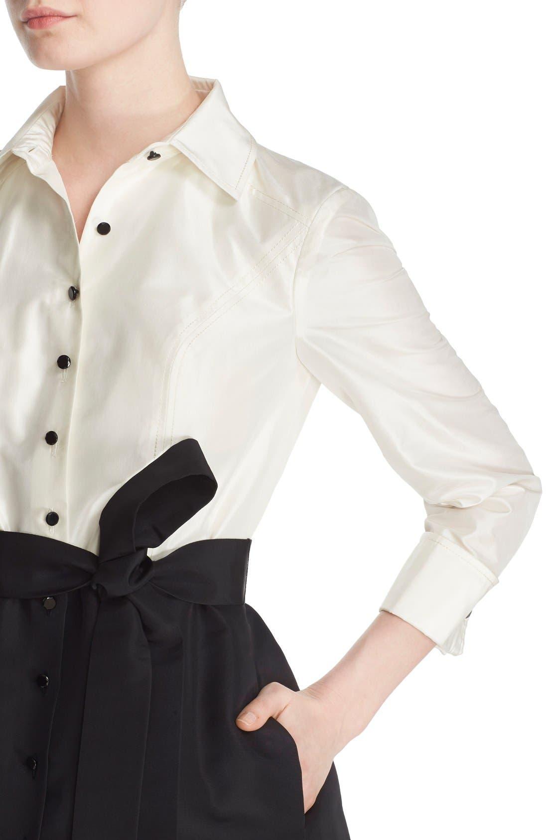 Alternate Image 5  - Carolina Herrera Silk Taffeta Trench Gown