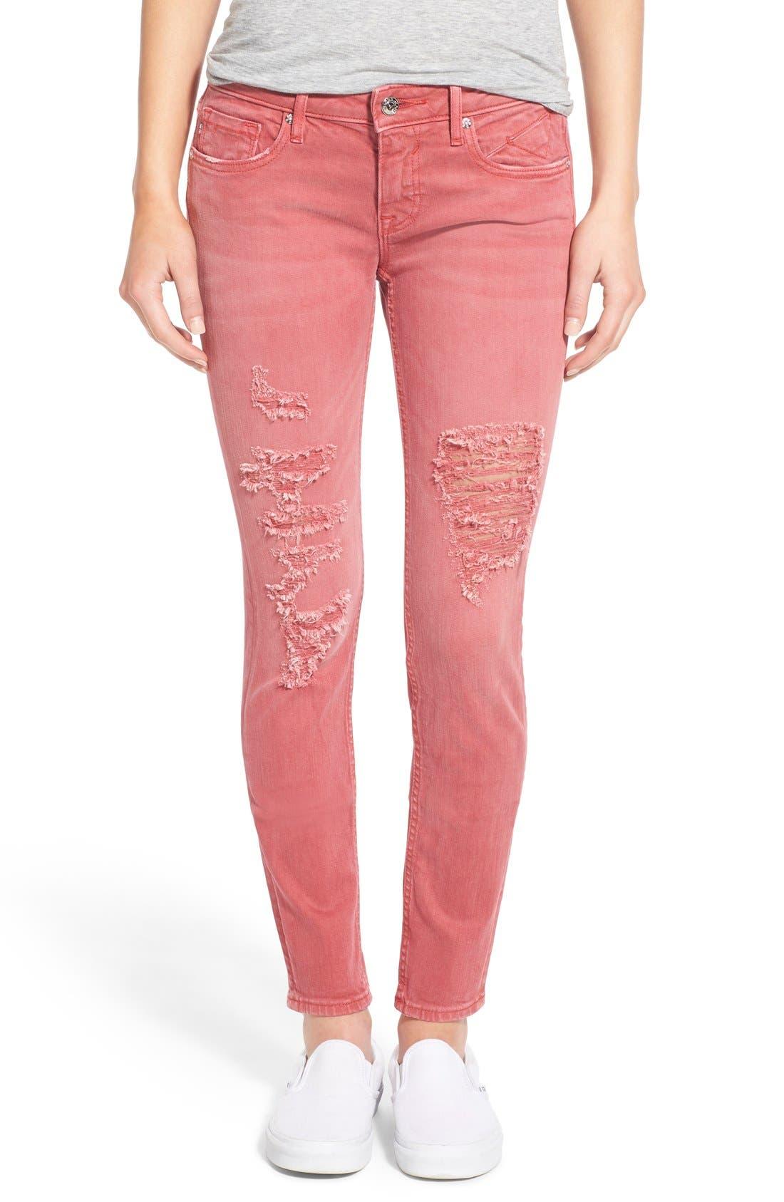 Main Image - Vigoss 'Chelsea' Distressed Skinny Jeans