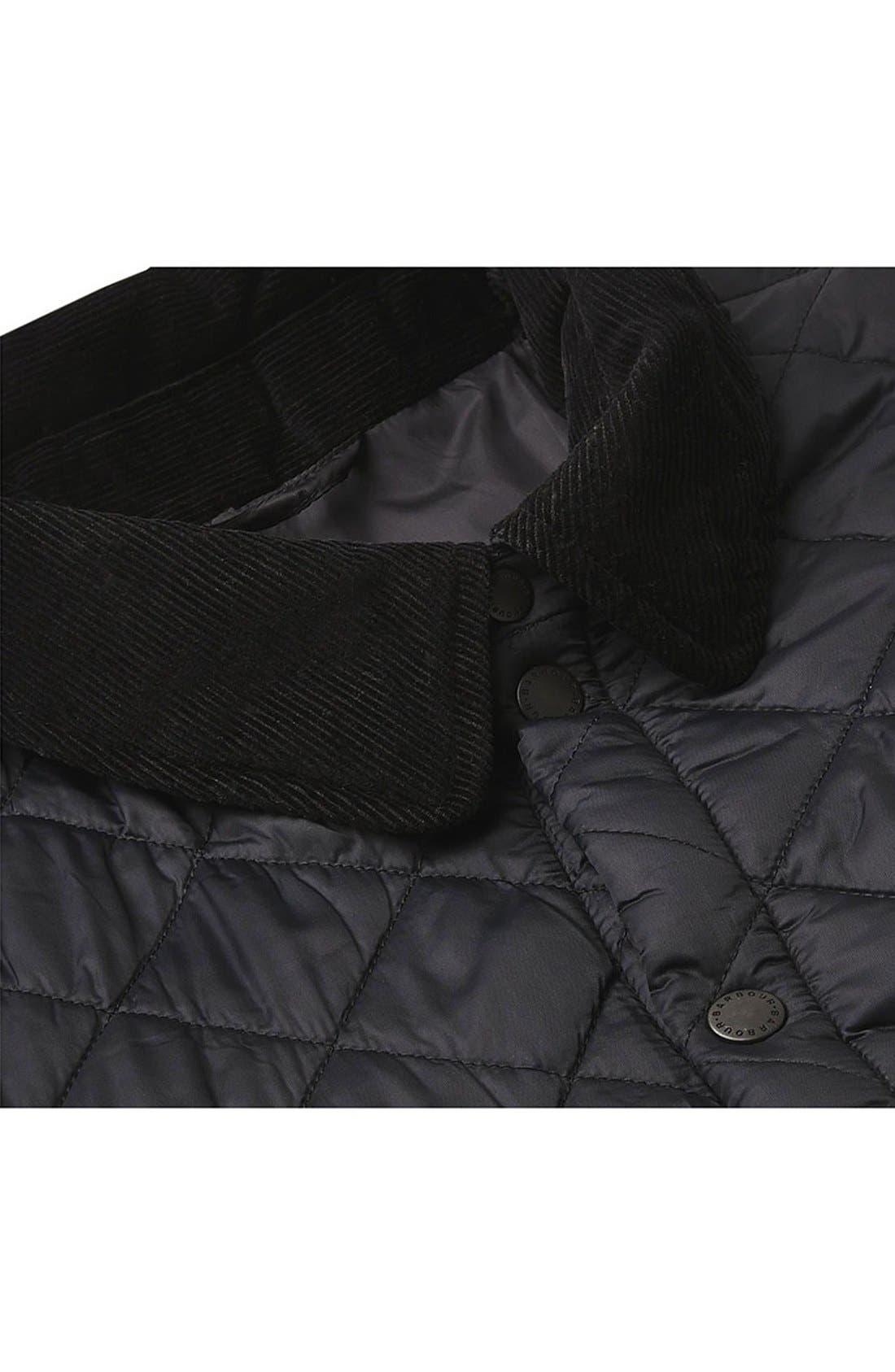 'Akenside' Regular Fit Quilted Jacket,                             Alternate thumbnail 7, color,                             Black