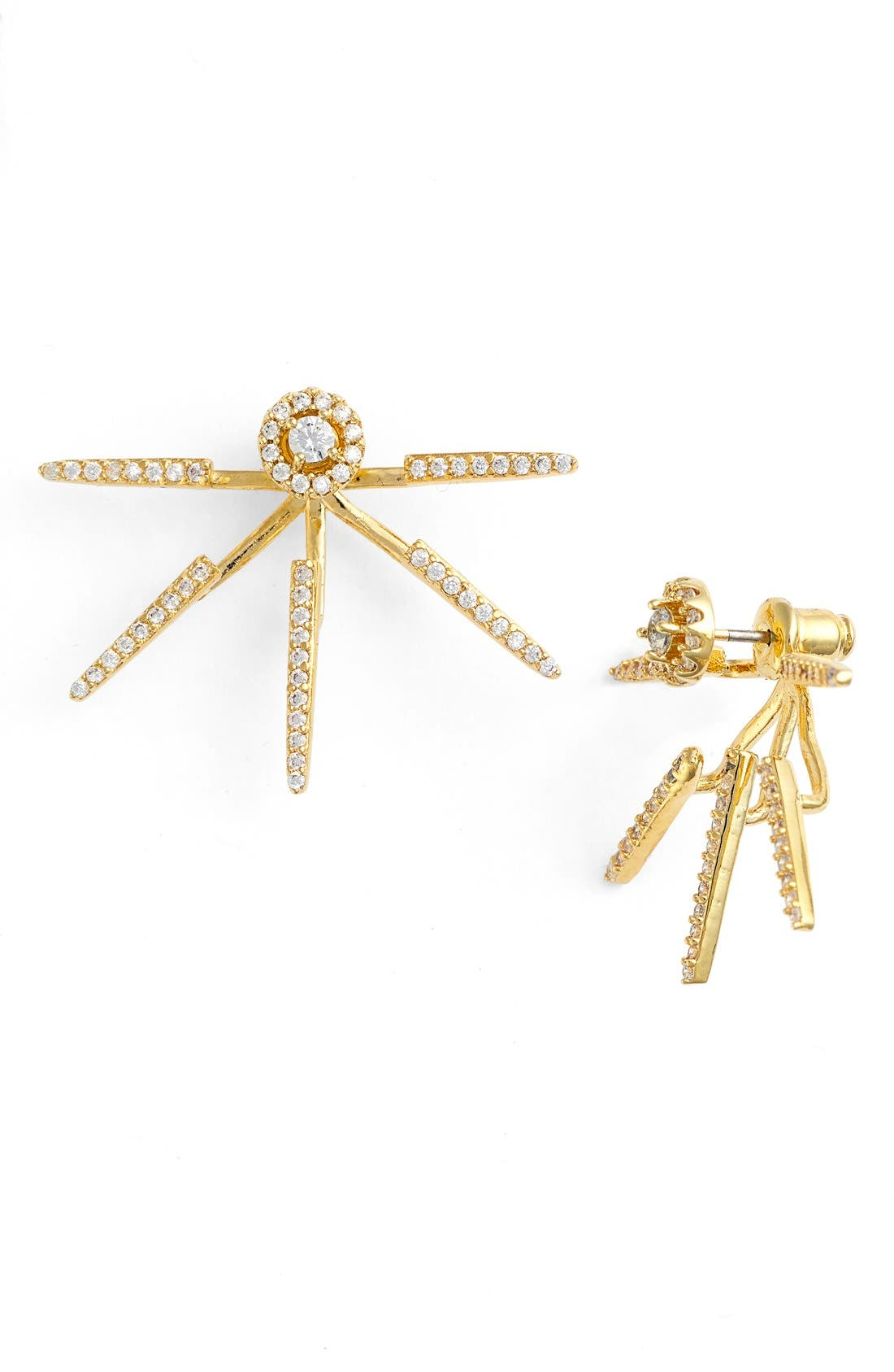 Alternate Image 1 Selected - CZ by Kenneth Jay Lane Pavé Cubic Zirconia Ear Jackets