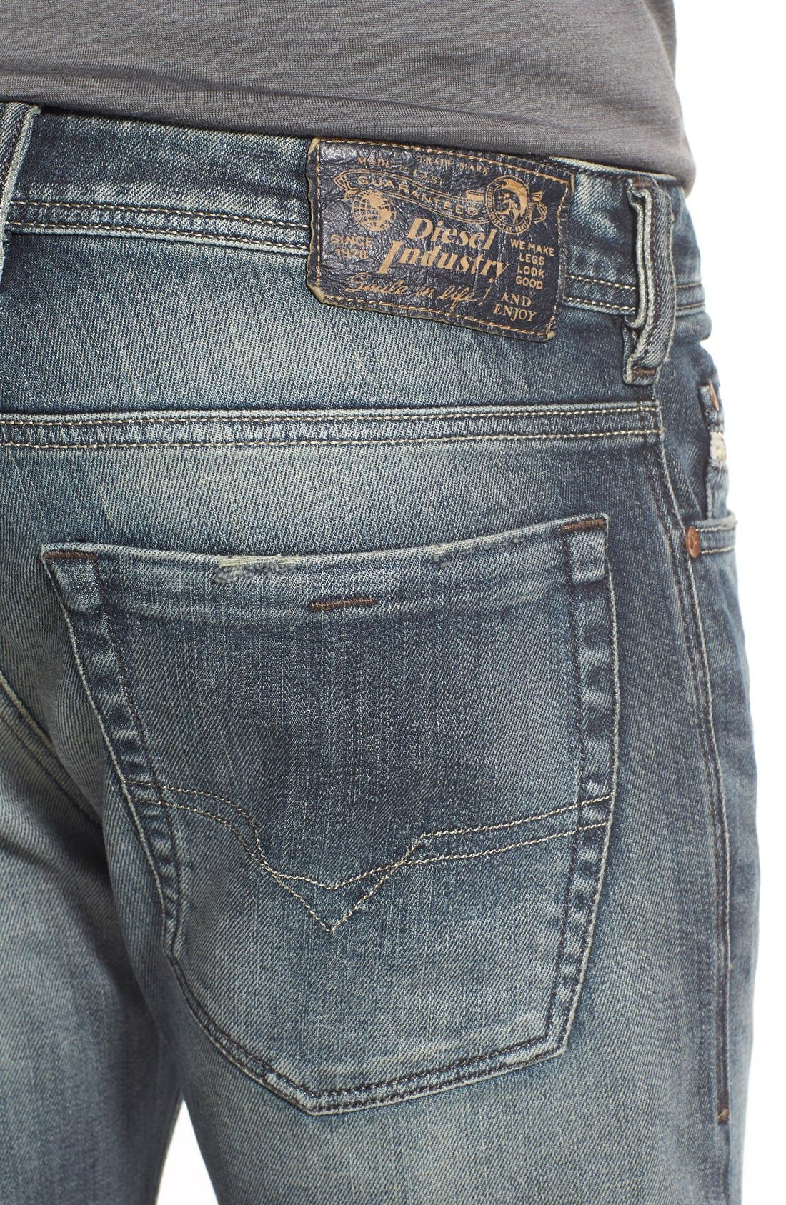 Alternate Image 4  - DIESEL® 'Zathan' Bootcut Jeans (885K)