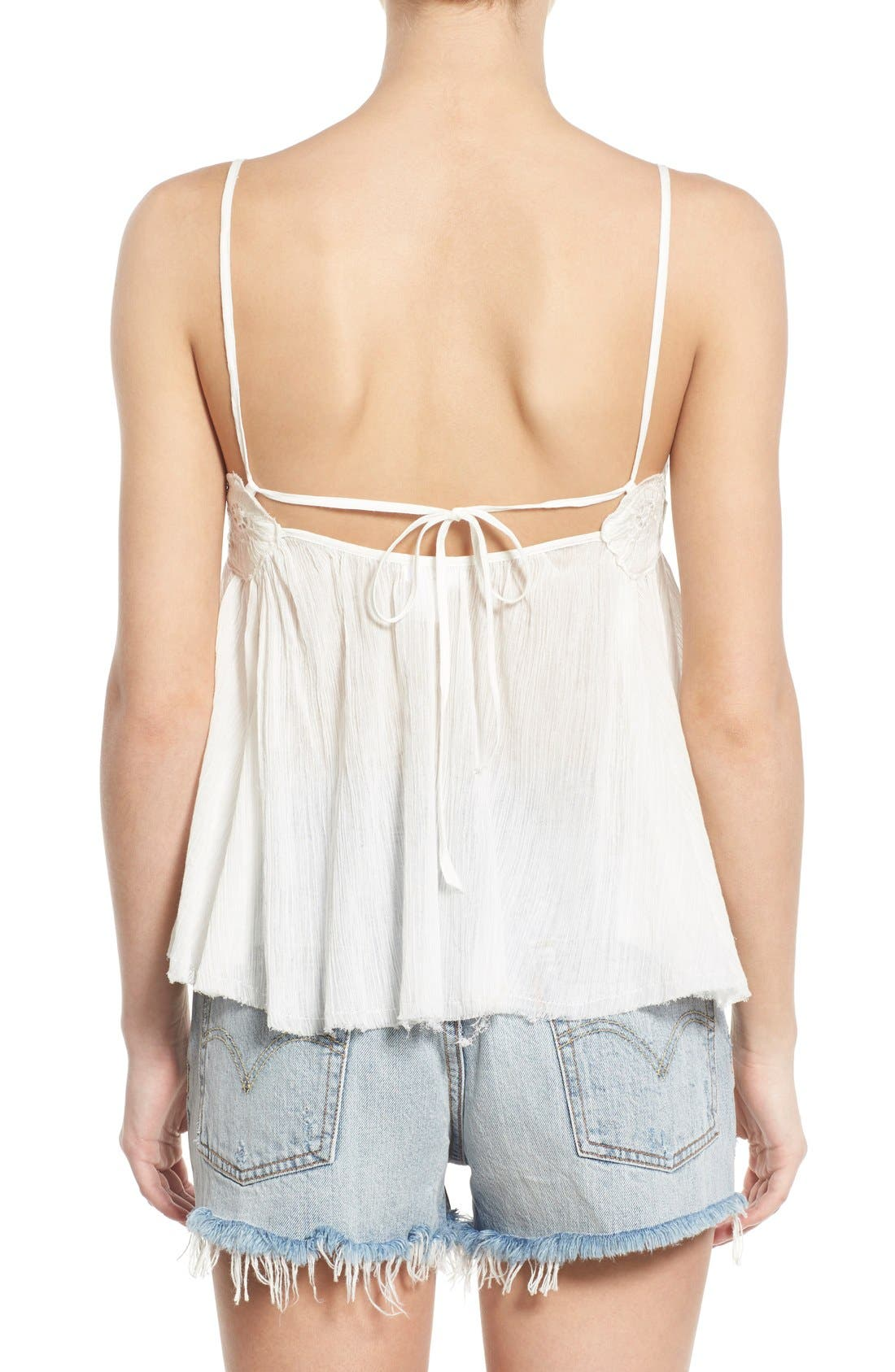 Alternate Image 2  - BP. Embroidered Babydoll Tank