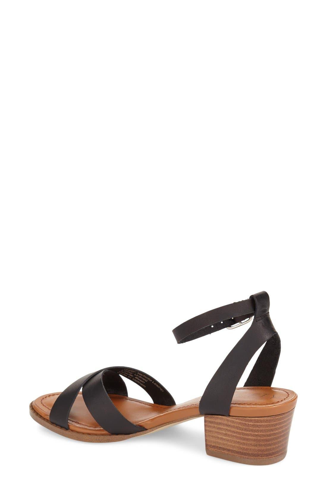'Savannah' Sandal,                             Alternate thumbnail 2, color,                             Black