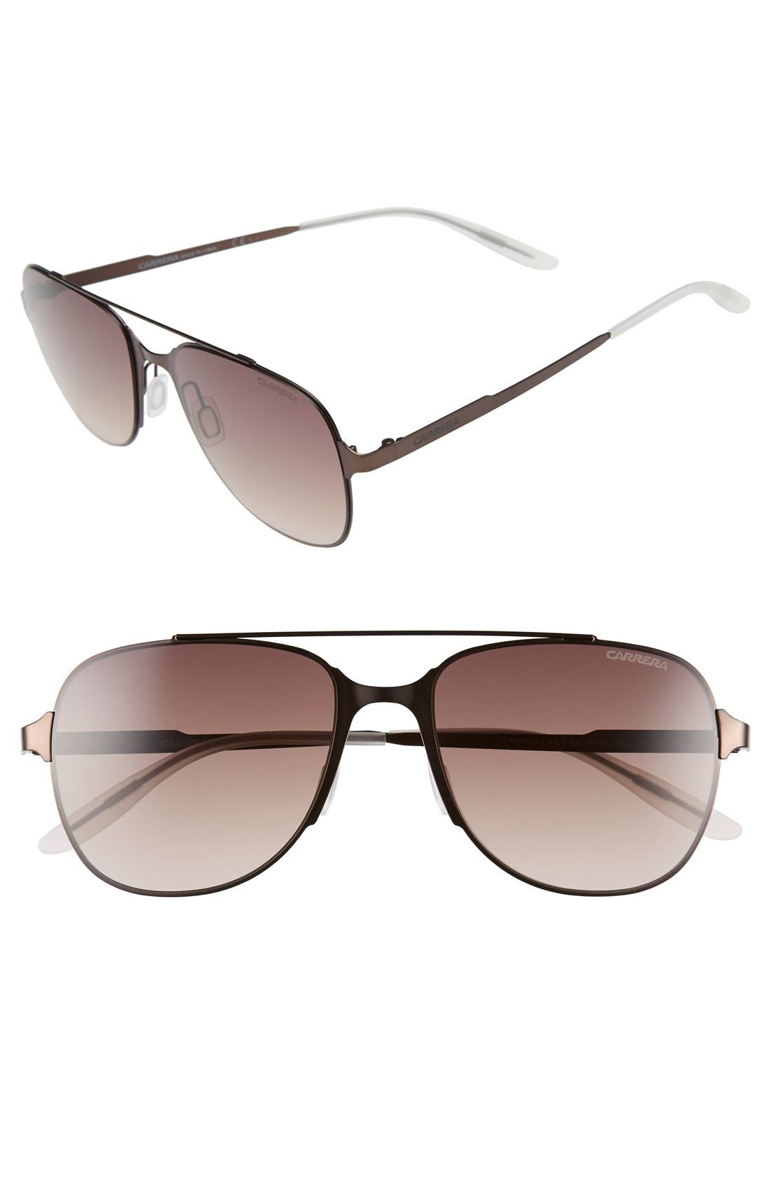 '114/S' 55mm Sunglasses,                         Main,                         color, Semi Matte Brown