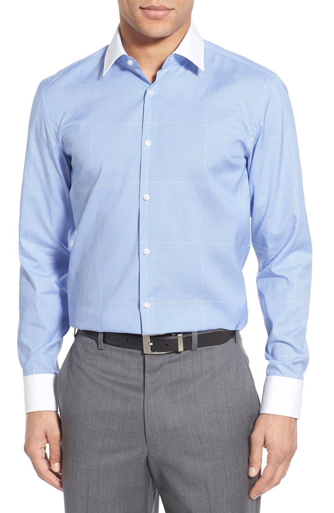 Alternate Image 2  - BOSS WW Slim Fit Easy Iron Check Dress Shirt