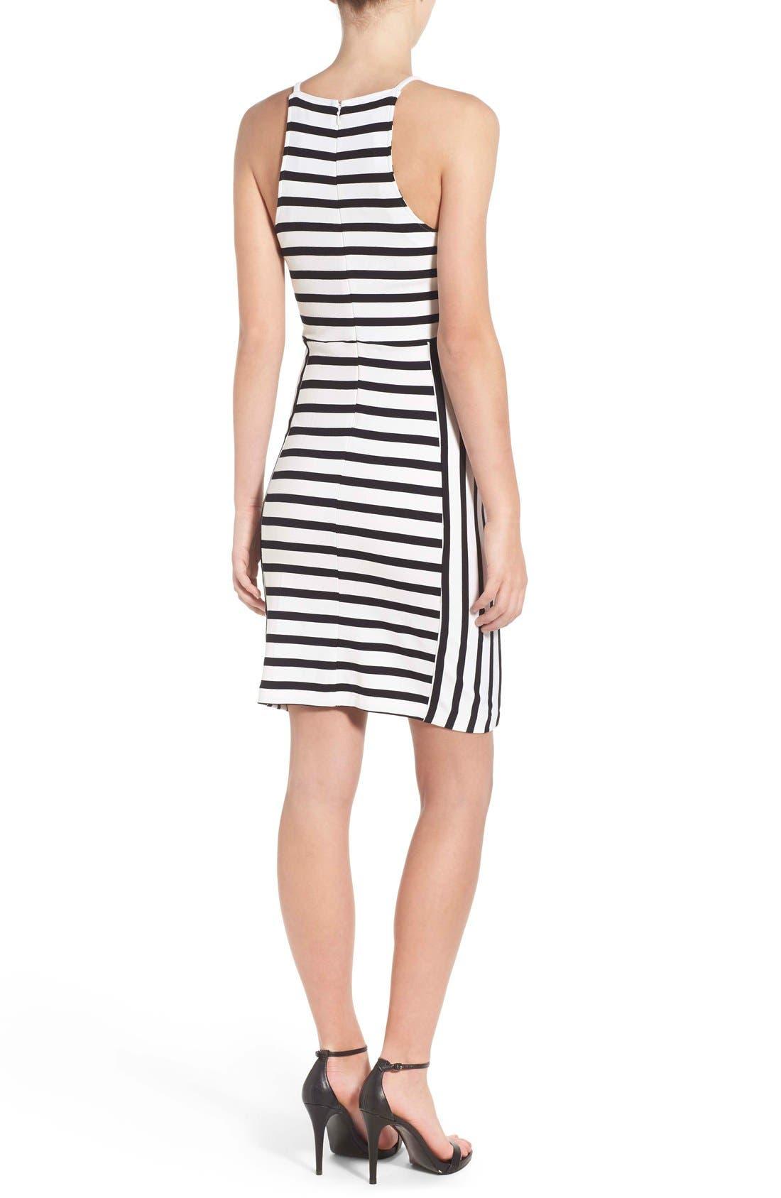 Alternate Image 3  - cupcakes and cashmere 'Elliot' Stripe Body-Con Dress