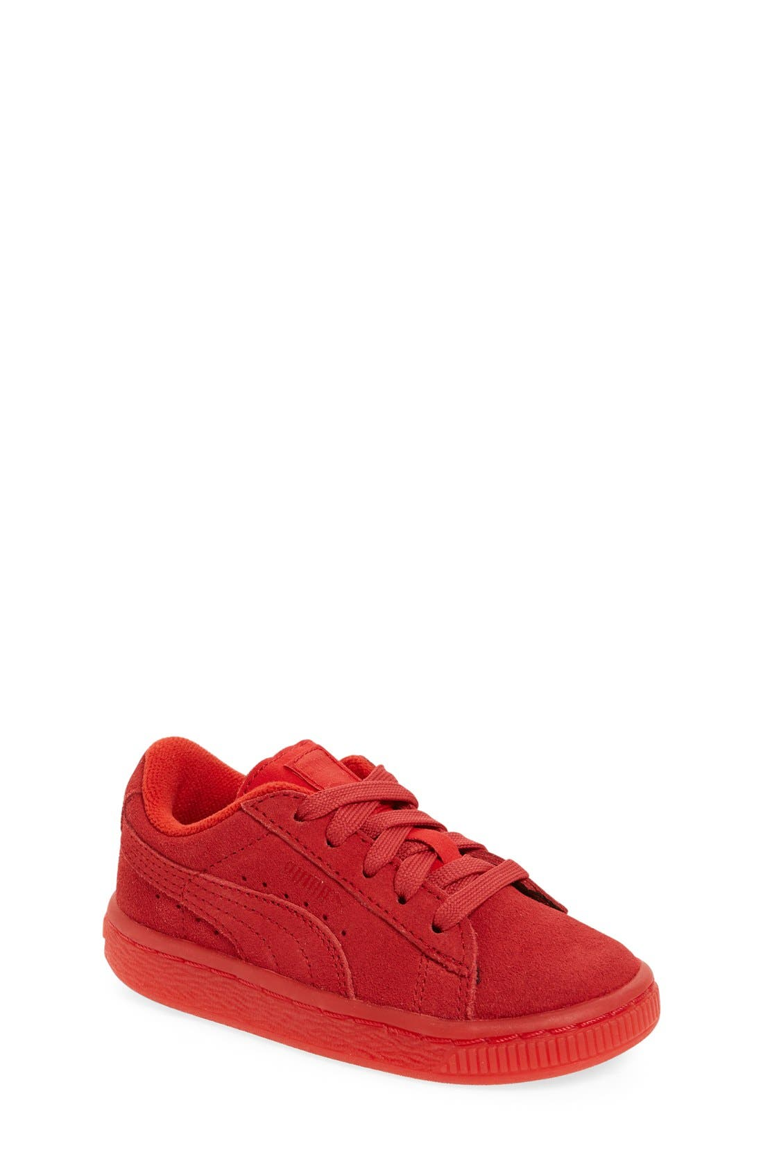 'Suede Iced' Sneaker,                             Main thumbnail 1, color,                             Red