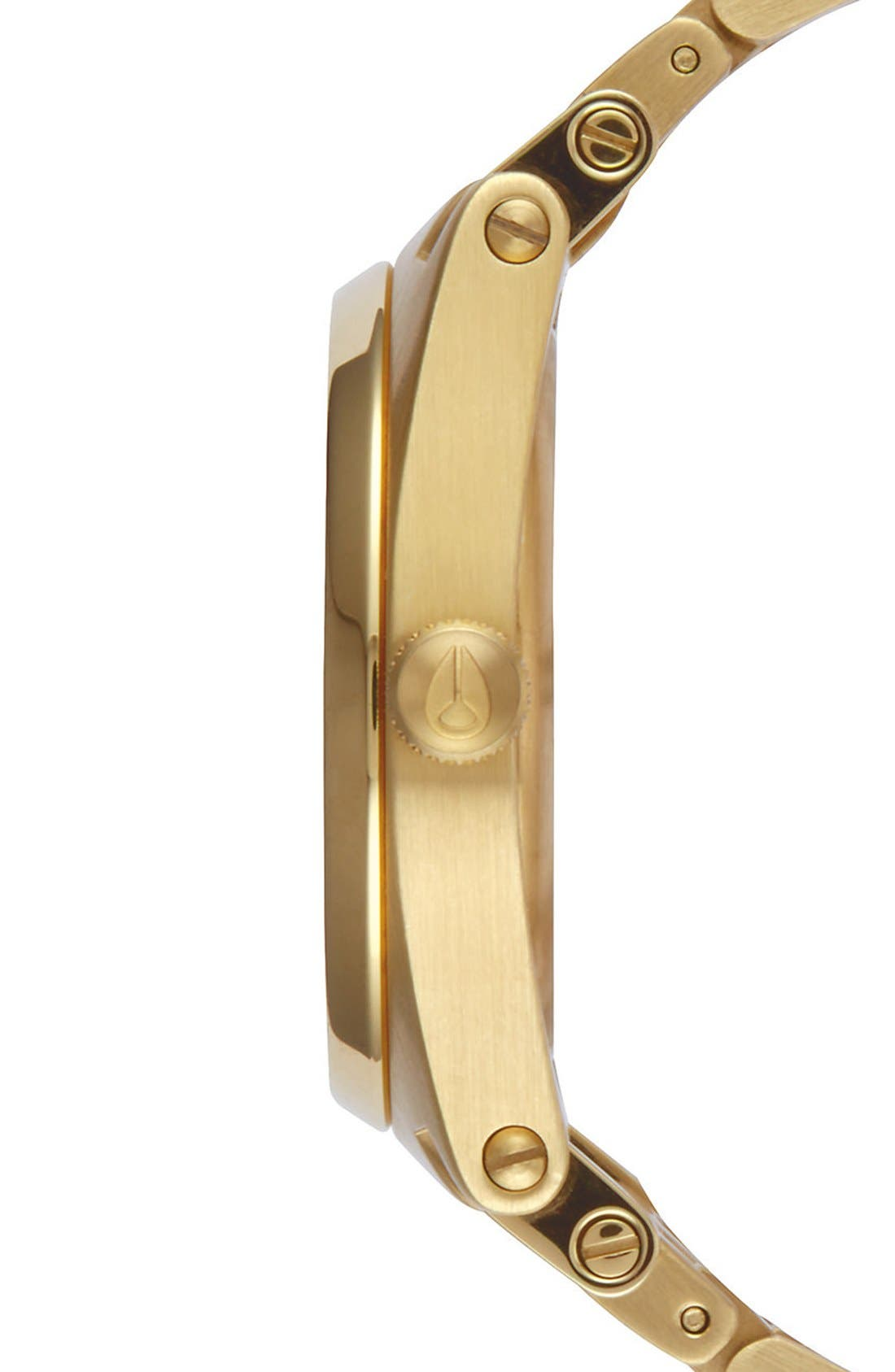 'Jane' Bracelet Watch, 35mm,                             Alternate thumbnail 3, color,                             Gold/ Black
