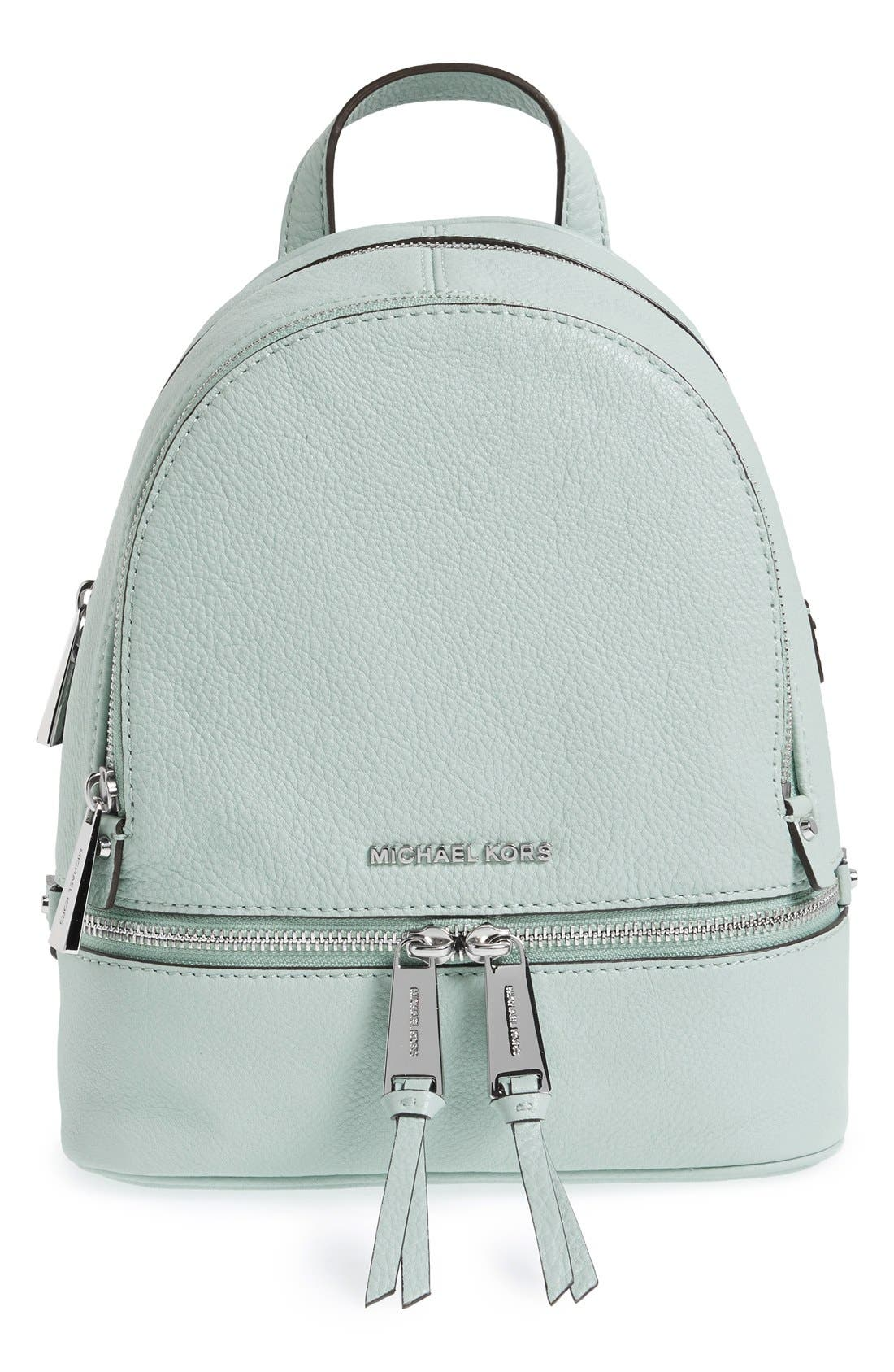 Main Image - MICHAEL Michael Kors 'Extra Small Rhea' Leather Backpack
