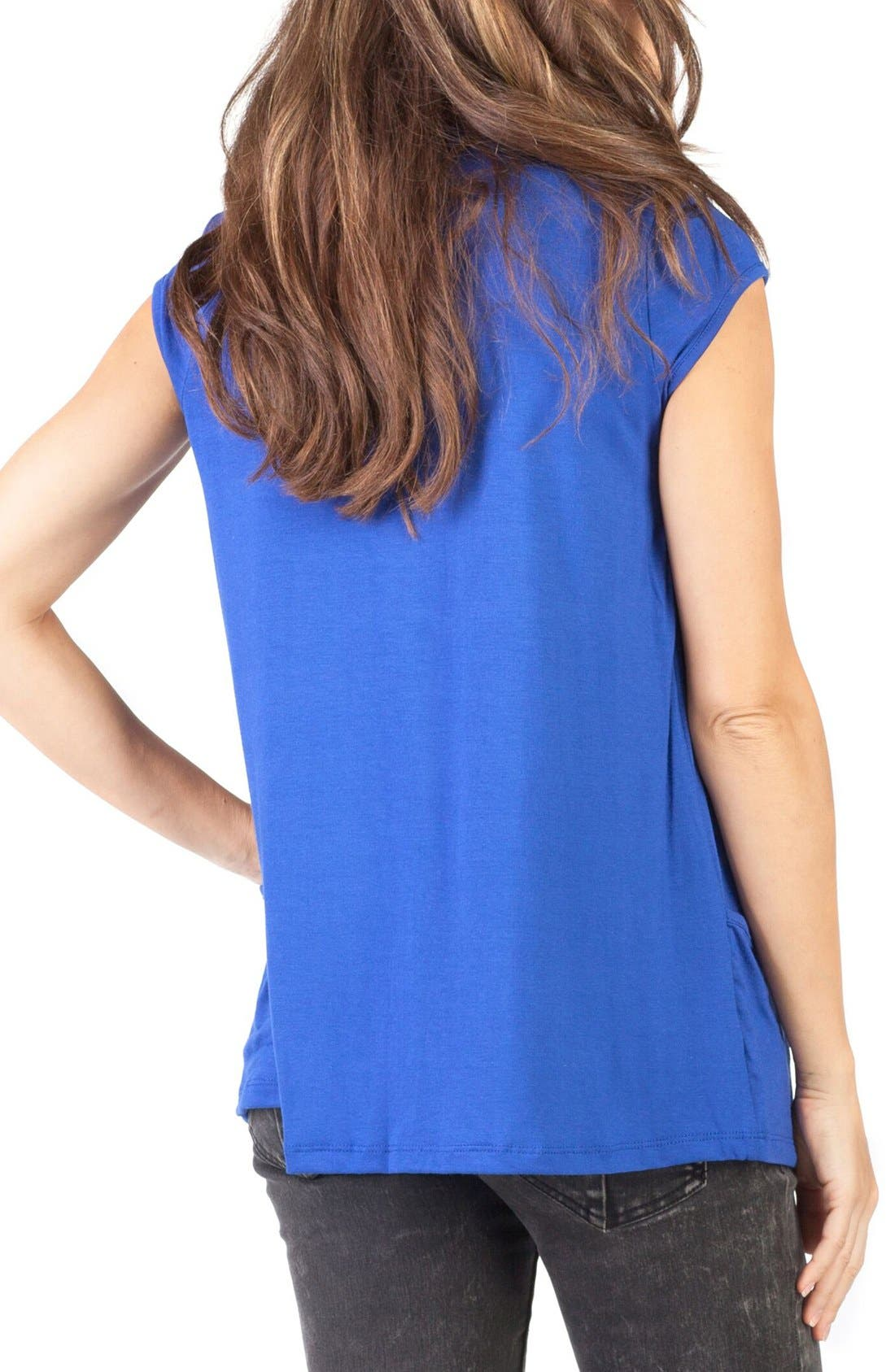 'The Babydoll' Maternity Nursing Top,                             Alternate thumbnail 3, color,                             Blue