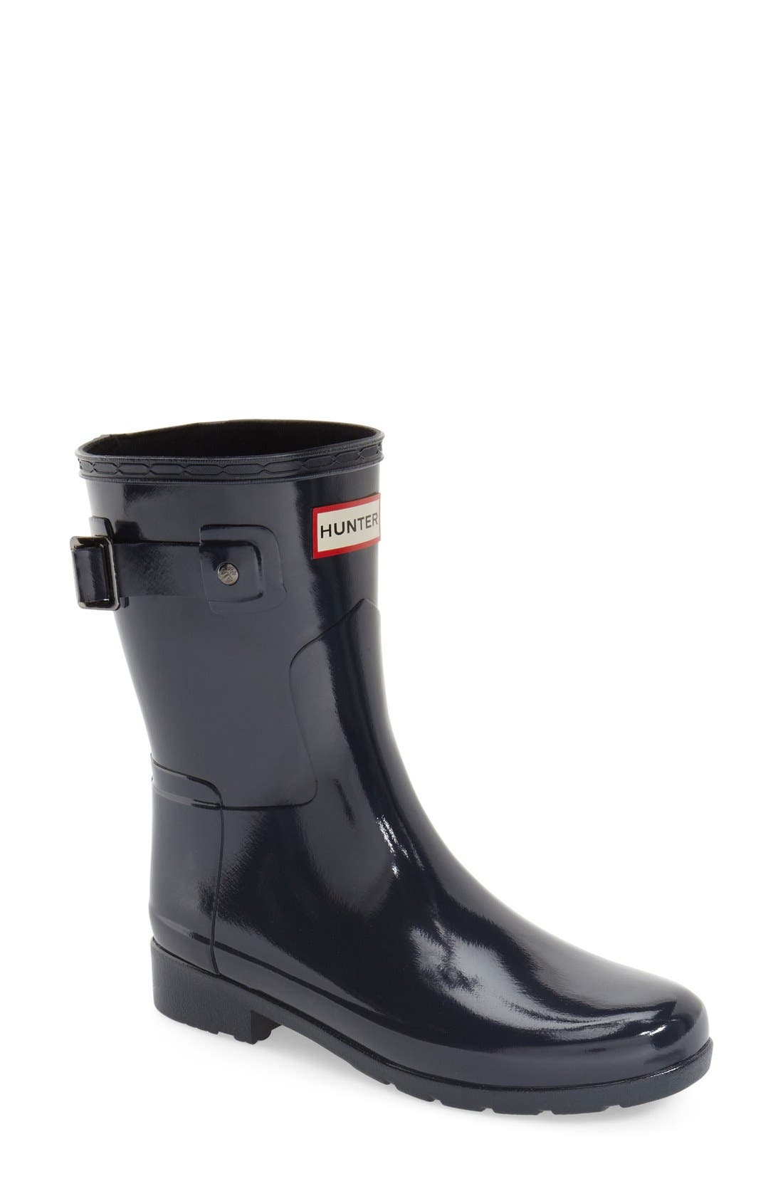 Main Image - Hunter 'Refined Short' Gloss Rain Boot (Women)