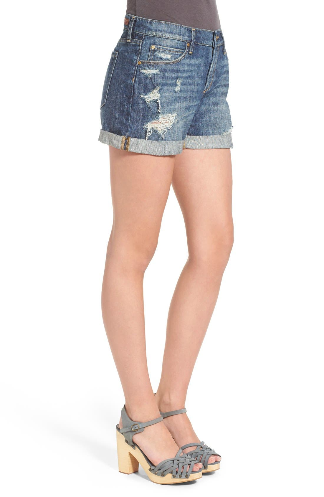 Alternate Image 3  - Articles of Society 'Jimmy' Distressed Denim Shorts (Buffet)